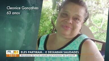 RJ1 homenageia vítimas que morreram com coronavírus do Sul do Rio - Nas 24 cidades do Sul e Costa Verde do Rio foram 106 mortes pela doença.