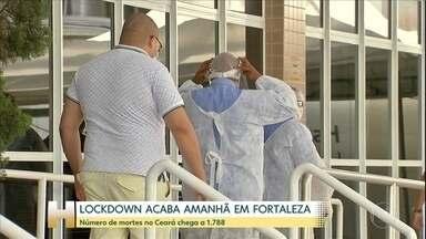 'Lockdown' termina nesta quarta-feira (20) em Fortaleza - Quantidade de mortes no CE chega perto de mil e oitocentas.