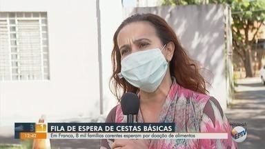 Cerca de 8 mil famílias carentes estão na fila de espera por cesta básica em Franca, SP - Secretária de Ação Social, Eliete Neves explica como as pessoas podem realizar as doações.