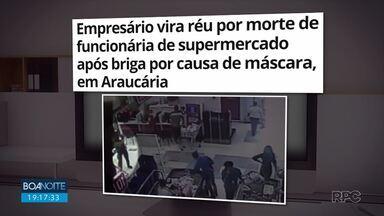 Justiça aceita denúncia do Ministério Público e Danir Barbossa vira réu - O empresário é acusado de homicídio, lesão corporal e infração de medida sanitária, por se recusar a entrar sem máscara em um supermercado. A confusão terminou na morta de uma funcionária.