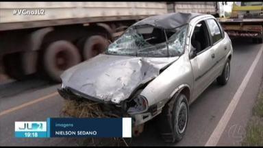 Motoqueiro morre ao ser atingido por carro que tentou ultrapassagem proibida - Motoqueiro morre ao ser atingido por carro que tentou ultrapassagem proibida em Paragominas