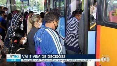 STF desobriga prefeitura a ajudar financeiramente empresas de ônibus em Goiânia - Passageiros de ônibus sofrem em meio a disputas judiciais.