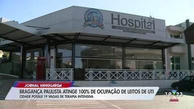 Bragança Paulista atinge 100% de ocupação de leitos de UTI - Confira reportagem do Jornal Vanguarda desta terça-feira (19).