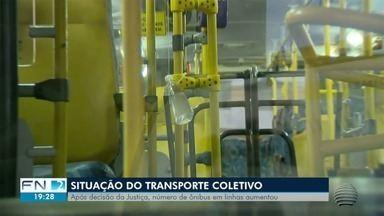 Transporte coletivo de Presidente Prudente passa por adaptações após decisão judicial - Número de ônibus aumentou para evitar aglomerações.