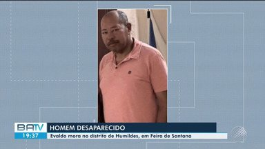 Homem está desaparecido desde domingo (17), no distrito de Humildes, Feira de Santana - Confira.