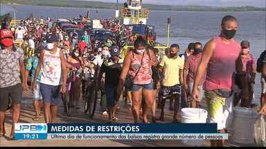 Decreto proíbe funcionamento de balsa que faz a travessia Cabedelo/Lucena - Decreto do Governo do estado também vai multar quem não usar máscaras a partir desta terça-feira (20/05).
