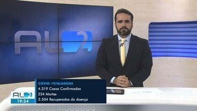 Alagoas registra mais 4.319 casos confirmados de Covid-19 - Número de óbitos subiu para 234 nesta terça-feira.