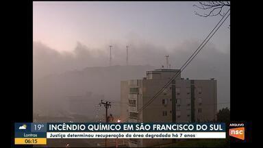 Justiça determina que empresa responsabilizada por fumaça tóxica em São Francisco do Sul r - Justiça determina que empresa responsabilizada por fumaça tóxica em São Francisco do Sul recupere área degradada