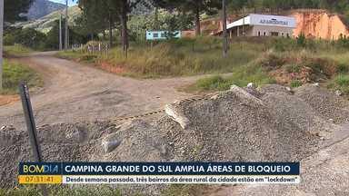 """Campina Grande do Sul amplia áreas de bloqueio - Desde semana passada, 3 bairros da área rural da cidade estão em """"lockdown""""."""