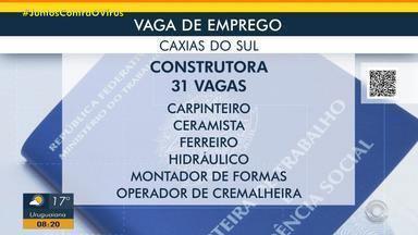 Construtora de Caxias do Sul tem diversas oportunidades - Acesse o g1.com.br/rs e veja os detalhes.