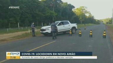 Após crescimento do número de casos de Covid-19, Novo Airão decreta lockdown - Prefeitura do município adota medidas mais restritivas.