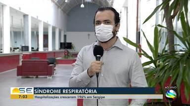 Hospitalizações por Síndrome Respiratória Aguda Grave cresceram 196% em Sergipe - Hospitalizações por Síndrome Respiratória Aguda Grave cresceram 196% em Sergipe.