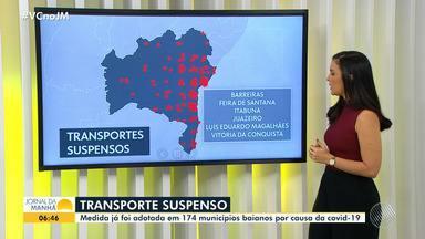 Bahia tem mais 170 municípios com transporte intermunicipal suspenso por causa da Covid-19 - Veja as informações sobre a pandemia em cidades como Feira de Santana e Itabuna.