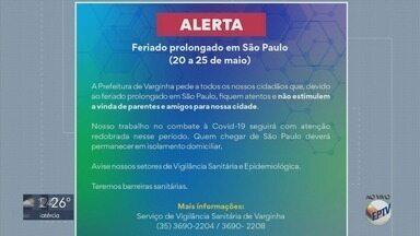 Cidades do Sul de MG decidem restringir acessos durante feriado em São Paulo - Medida é para evitar visitantes para conter coronavírus