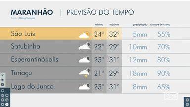 Veja a previsão do tempo no Maranhão - Confira a previsão do tempo desta segunda-feira (20)