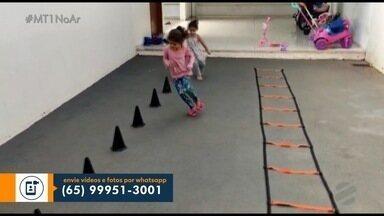 Atividades físicas em casa durante a quarentena - Atividades físicas em casa durante a quarentena.