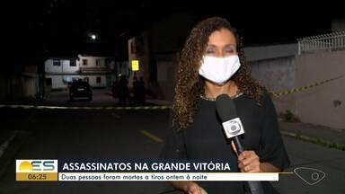 Duas pessoas são mortas na Grande Vitória na noite desta terça-feira (12) - Um homem foi morto a tiros na Serra e outro em Vila Velha.
