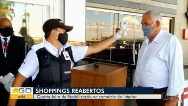 Comércios de cidades do interior de Goiás voltam a reabrir - Decretos permitiram reabertura de shoppings.