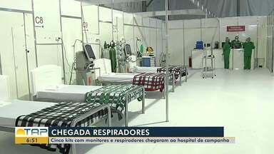 Hospital de Campanha de Santarém recebe respiradores enviados pelo Ministério da Saúde - Equipamentos chegaram na tarde desta terça-feira (19) e serão montados para tratamento de pacientes com covid-19.