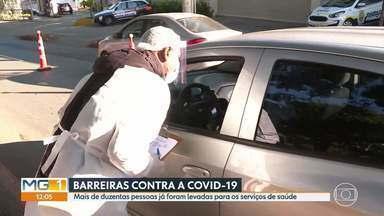 Barreiras contra a Covid-19 em BH - Nos três primeiros dias, 216 pessoas foram encaminhadas para os serviços de saúde.