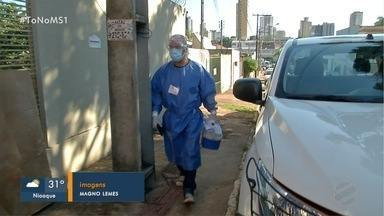 Pesquisadores do Ibope percorrem Campo Grande com testes de COVID-19 - Trabalho é feito em parceria com Vigilância em Saúde e casos confirmados são notificados