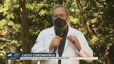 Especialista explica sobre o aumento do número de casos da Covid-19 em Ribeirão Preto, SP - Supervisor do HC alerta para crescente número de internações por coronavírus em Ribeirão Preto