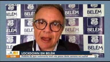 Zenaldo Coutinho esclarece sobre retorno das atividades em Belém - Prefeito afirmou que 'lockdown' não passa desta semana, na capital paraense. Ele também falou sobre a situação ainda preocupante do atendimento aos pacientes com Covid-19 em Belém.
