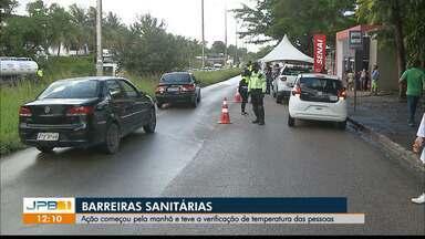 Novas barreiras são instaladas na Grande João Pessoa - Barreiras sanitárias foram colocadas também na divisa de bairros da capital paraibana.