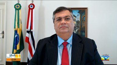 Governador do Maranhão, Flávio Dino, fala sobre reunião com presidente Bolsonaro - O governador, Flávio Dino, participou agora pela manhã de uma reunião com o presidente Jair Bolsonaro pra tratar sobre medidas de combate a pandemia em todo o estado.