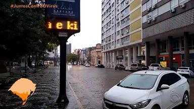 Chuva forte atinge Região Sul do RS nesta quinta-feira (21) - Assista ao vídeo.