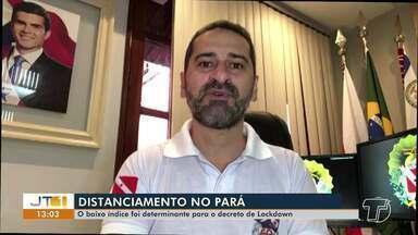 Índices de distanciamento social tem ficado abaixo do recomendado na região de Santarém - Baixo nível foi determinante para decreto de lockdown em Santarém