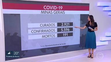 Minas tem recorde de mortes e casos divulgados em 24 horas pelo segundo dia consecutivo - Boletim da Secretaria Estadual de Saúde registrou que Minas Gerais tem, nesta quinta-feira (21), 191 mortes e 5.596 casos confirmados.