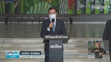 Doria comenta possibilidade de relaxar distanciamento social em algumas cidades - Chefe do Comitê de Enfrentamento do Coronavírus em São Paulo, Dimas Covas, diz que a epidemia deve crescer mais no interior a partir de agora.