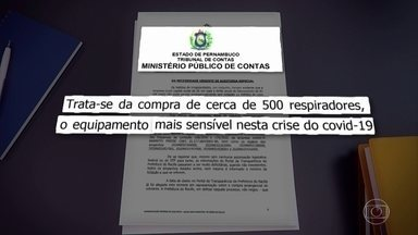 MPCO questiona compra de respiradores para pacientes com Covid-19 no Recife - Segundo órgão, equipamentos foram vendidos por uma micro empresária de São Paulo