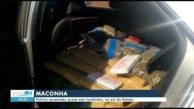 Polícia apreende quase seis toneladas de maconha, no sul do Estado - Polícia apreende quase seis toneladas de maconha, no sul do Estado