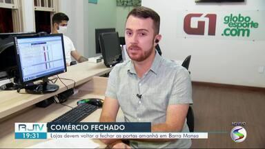 Comércio de Barra Mansa volta a fechar após decisão judicial - Justiça definiu multa diária de R$ 10 mil caso o prefeito Rodrigo Drable continuasse descumprindo a determinação.