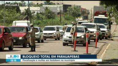 Em Parauapebas, descumprimento de lockdown gera multas - Em Parauapebas, descumprimento de lockdown gera multas