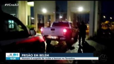 Homem é preso em Belém suspeito de roubo a bancos no Tocantins - Homem é preso em Belém suspeito de roubo a bancos no Tocantins
