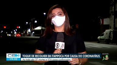 """Moradores de Itapipoca vivem """"o toque de recolher"""" com mais de 500 casos de covid-19 - Confira mais notícias em g1.globo.com/ce"""