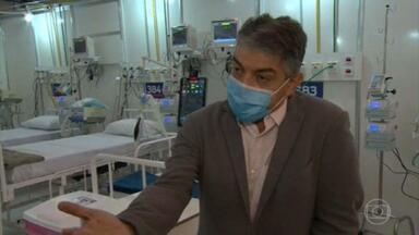 Governo do Rio adia mais uma vez inauguração de dois hospitais de campanha - Os hospitais deveriam ter sido entregues no fim do mês passado. Novo secretário de saúde disse que alguns desses hospitais podem até nem mais ser construídos.