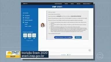 Prazo para inscrição no Enem chega ao último dia - A data das provas foi adiada, mas as inscrições foram mantidas até esta sexta-feira (22).
