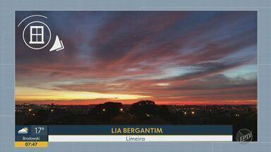 'Na Janela': telespectadores compartilham fotos de céu colorido no Bom Dia Cidade - Registros desta sexta-feira (22) são de Artur Nogueira, Campinas, Limeira e Piracicaba.