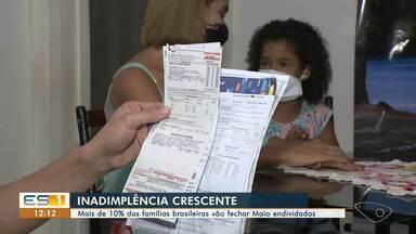 Mais de 10% das famílias brasileiras vão fechar Maio endividadas - Levantamento é feito em todo o país.