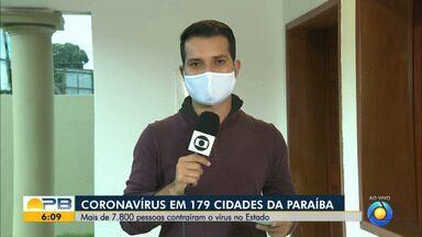 Paraíba tem 7.823 casos confirmados e 272 mortes por coronavírus - Pelo menos 315 novos casos e 14 mortes foram confirmados neste domingo (24).