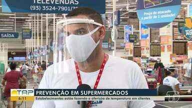 Supermercados de Santarém realizam prevenção contra contaminação da Covid-19 - Confira as ações na reportagem.