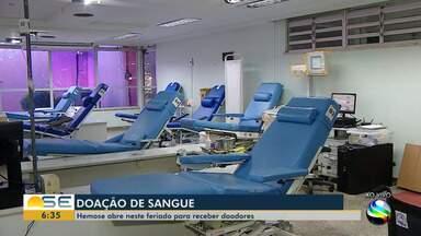 Hemose abre neste feriado antecipado para doação de sangue - Hemose abre neste feriado antecipado para doação de sangue.