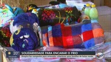 Prefeitura de Itirapina realiza campanha para arrecadar cobertores - Doações serão entregues às famílias carentes da cidade.