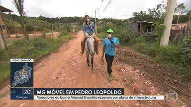 MG Móvel está, pela 9ª vez, em Pedro Leopoldo - Moradores do bairro Manoel Brandão esperam obras de infraestrutura como rede de esgoto e pavimentação.