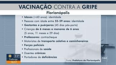 Prefeitura divulga novos locais para vacinação contra gripe em Florianópolis - Prefeitura divulga novos locais para vacinação contra gripe em Florianópolis