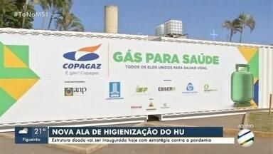 HU da Capital ganha ala de higienização para funcionários contra a COVID-19 - Contêineres foram instalados em parceira com Copagaz em modelo inédito no país